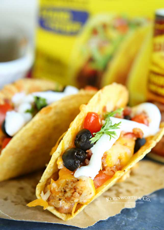 taco dinner recipe - Rotisserie Chicken Bacon Ranch Tacos