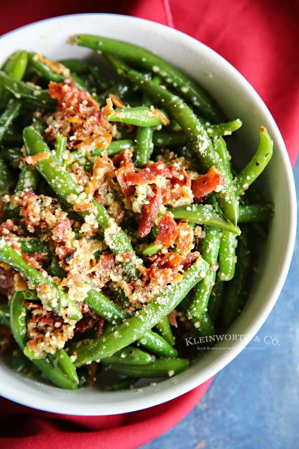 garlic green beans - Bacon & Garlic Green Beans