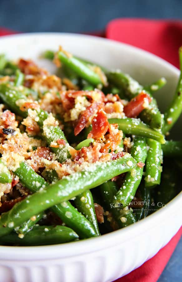 how to make Bacon & Garlic Green Beans