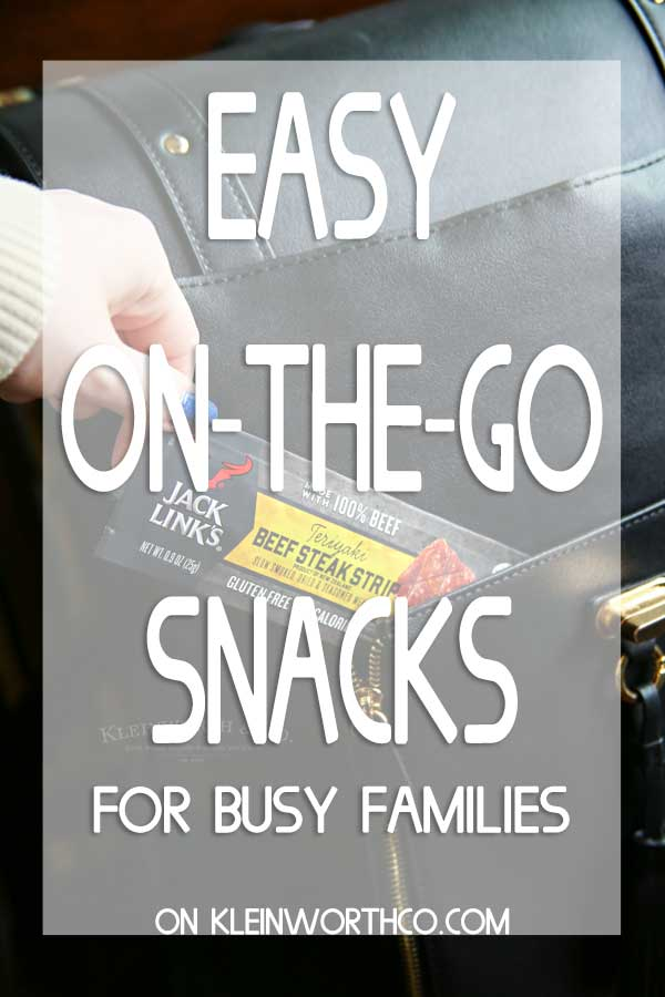 Easy on the go snacks for busy families