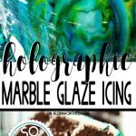 Easy Marble Drip Icing