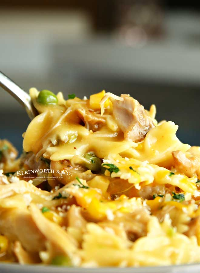 dinner recipe -Instant Pot Chicken Noodle Casserole