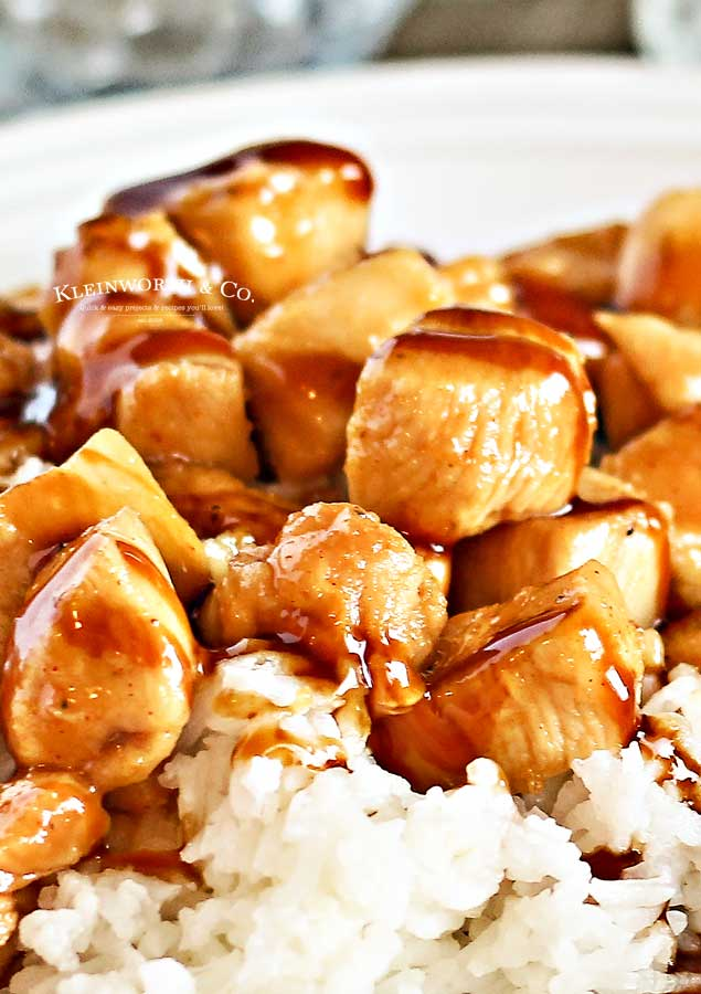 30 minute dinner - Pineapple Teriyaki Chicken