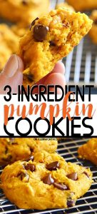 3-Ingredient Pumpkin Cookies