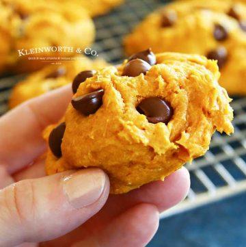 fall dessert - 3-Ingredient Pumpkin Cookies