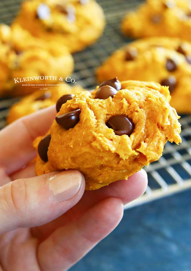 fall dessert - 3-Ingredient Pumpkin Cookies