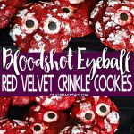 Bloodshot Eyeball Red Velvet Crinkle Cookies