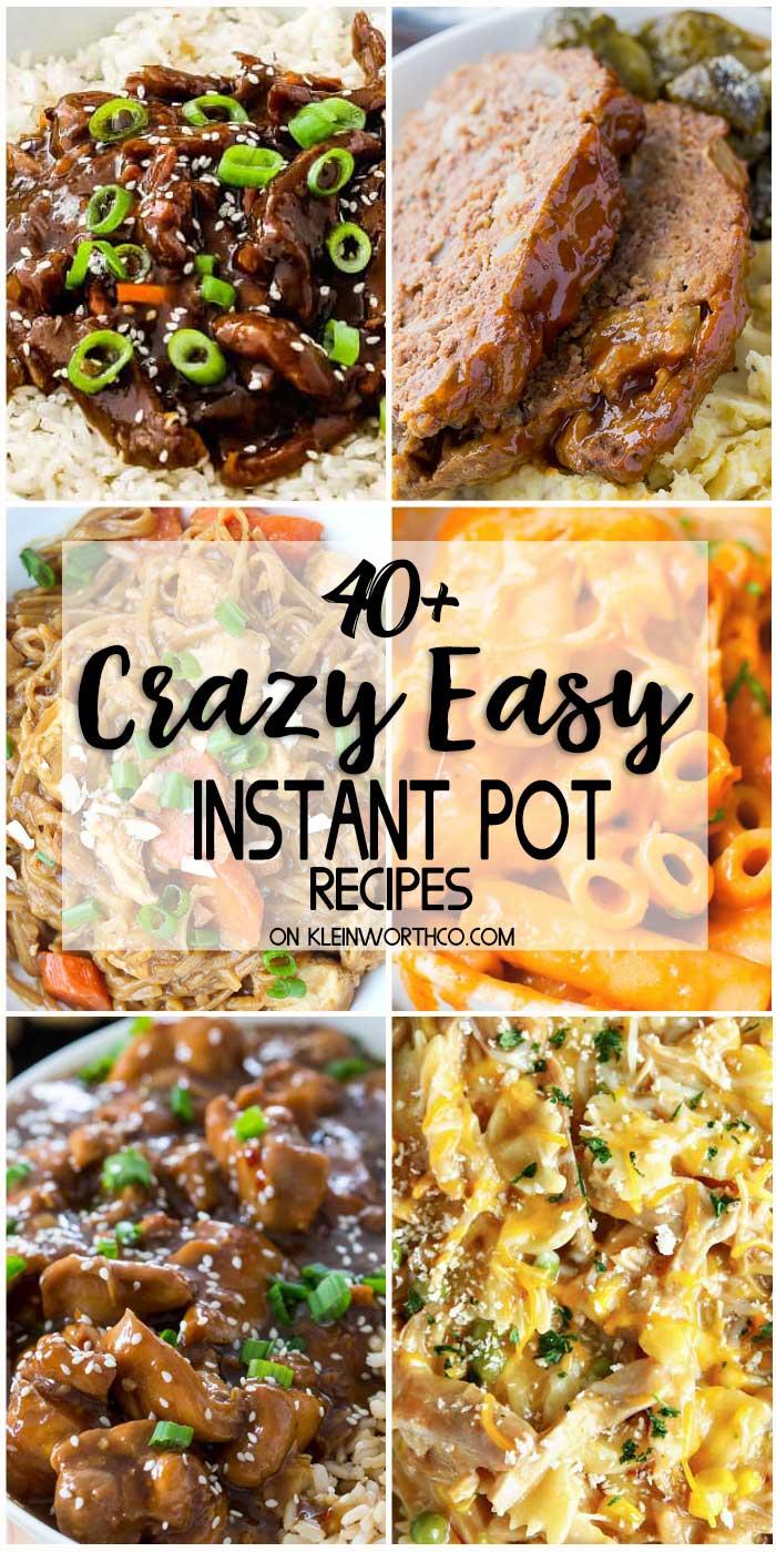 Crazy Easy Instant Pot Recipes