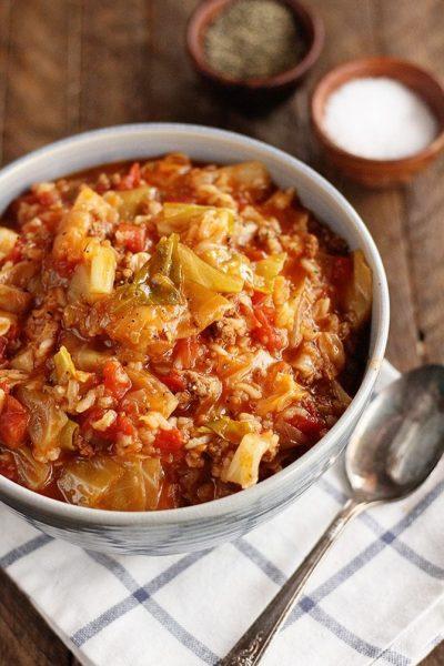 Instant Pot Stuffed Cabbage Soup
