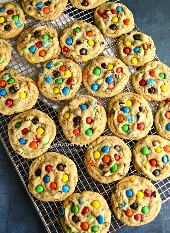 Soft & Chewy M&M Cookie Recipe