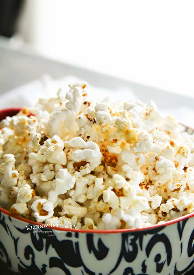 Microwave Homemade Kettle Corn