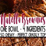 Nutella Brownie Recipe