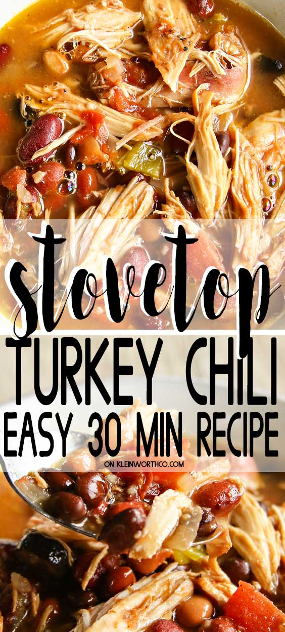 Stovetop Turkey Chili