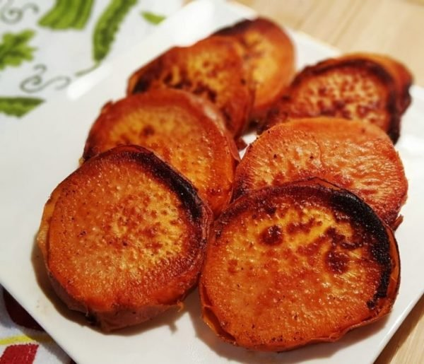 Pressure Cooker Caramelized Sweet Potatoes
