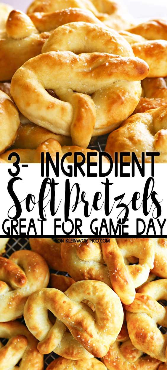 3-Ingredient Soft Pretzels