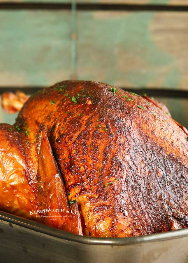 Easiest turkey recipe - Applewood Smoked Turkey - Traeger Recipe
