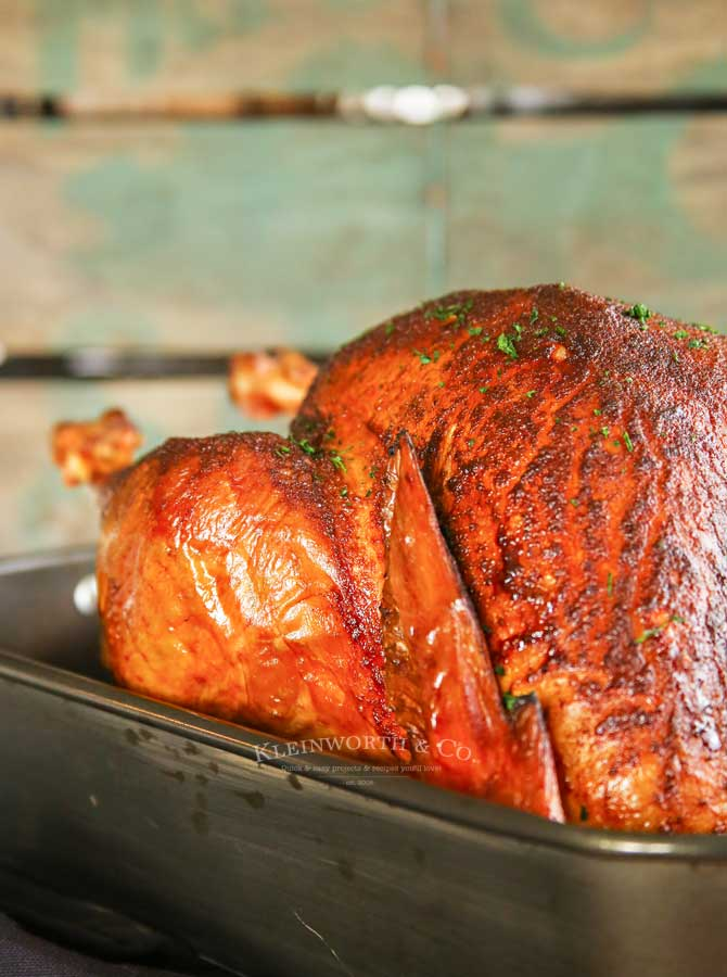 pellet grille - Applewood Smoked Turkey - Traeger Recipe
