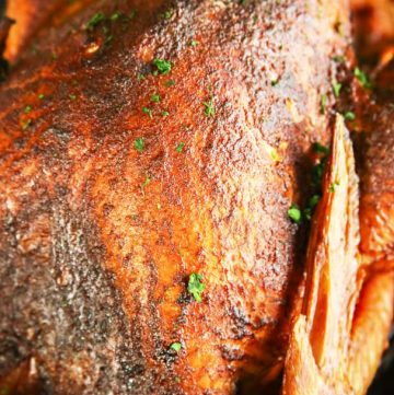 Traeger recipe - Applewood Smoked Turkey - pellet grille