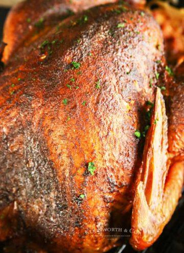 Traeger recipe - Applewood Smoked Turkey - pellet grille