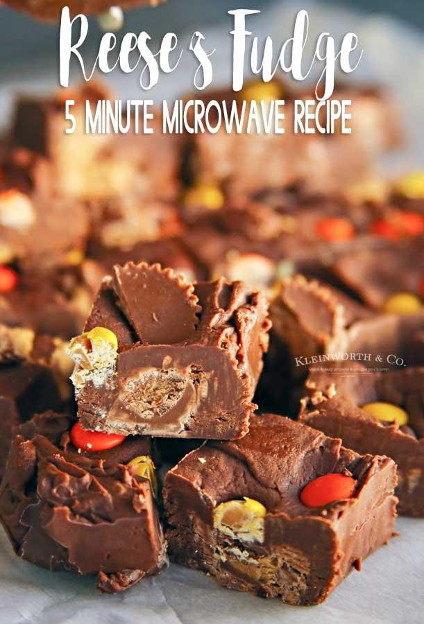 Easy Microwave Reese's Fudge