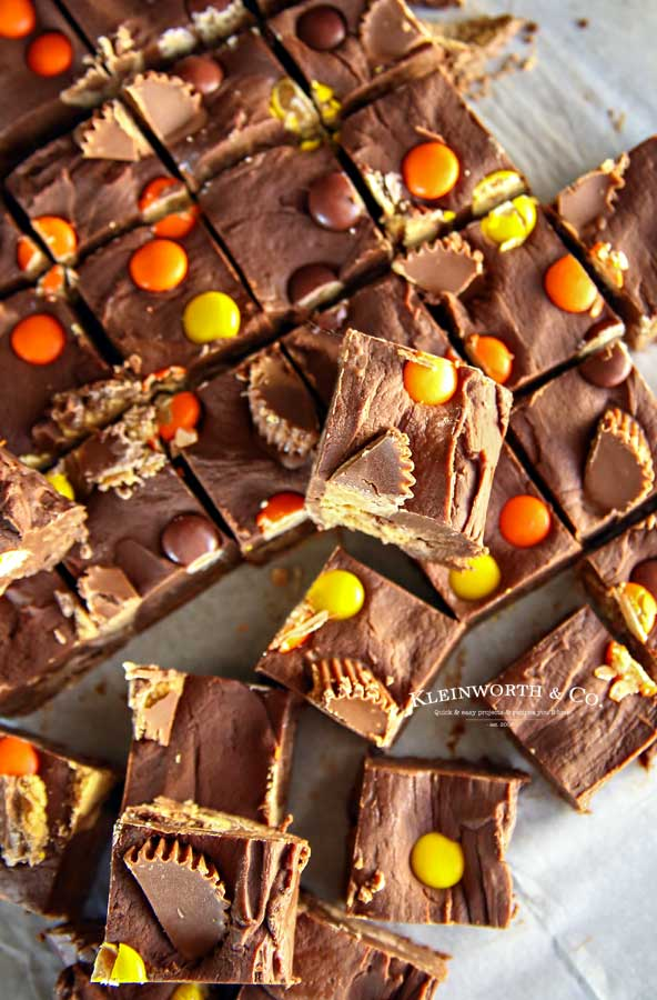 Fall treat - Easy Microwave Reese's Fudge