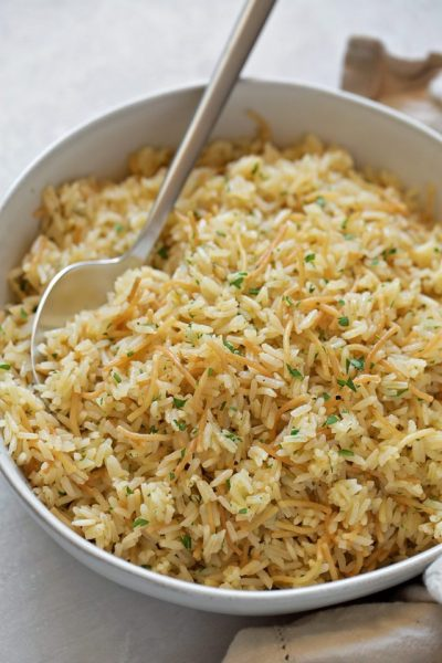 Tender, flavorful pilaf made in the Instant Pot