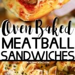 Oven Baked Meatball Sandwiches