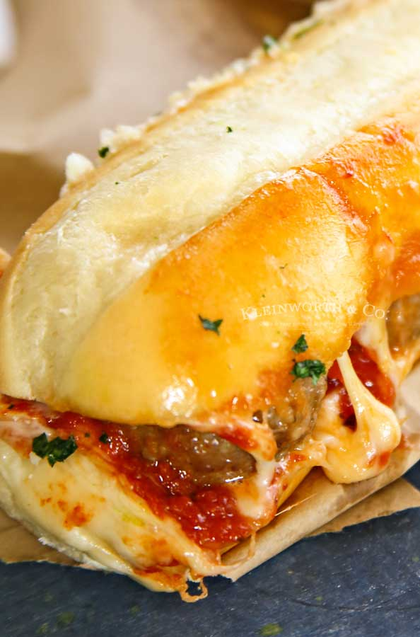 Easy game day food - Oven Baked Meatball Sandwiches