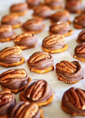homemade candy - Rolo Pretzel Turtles