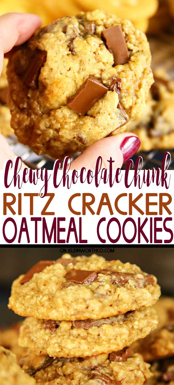 Chewy RITZ Cracker Oatmeal Cookies