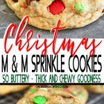 Christmas M&M Sprinkle Cookies