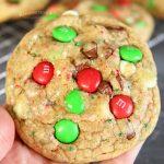 How to make Christmas M&M Sprinkle Cookies