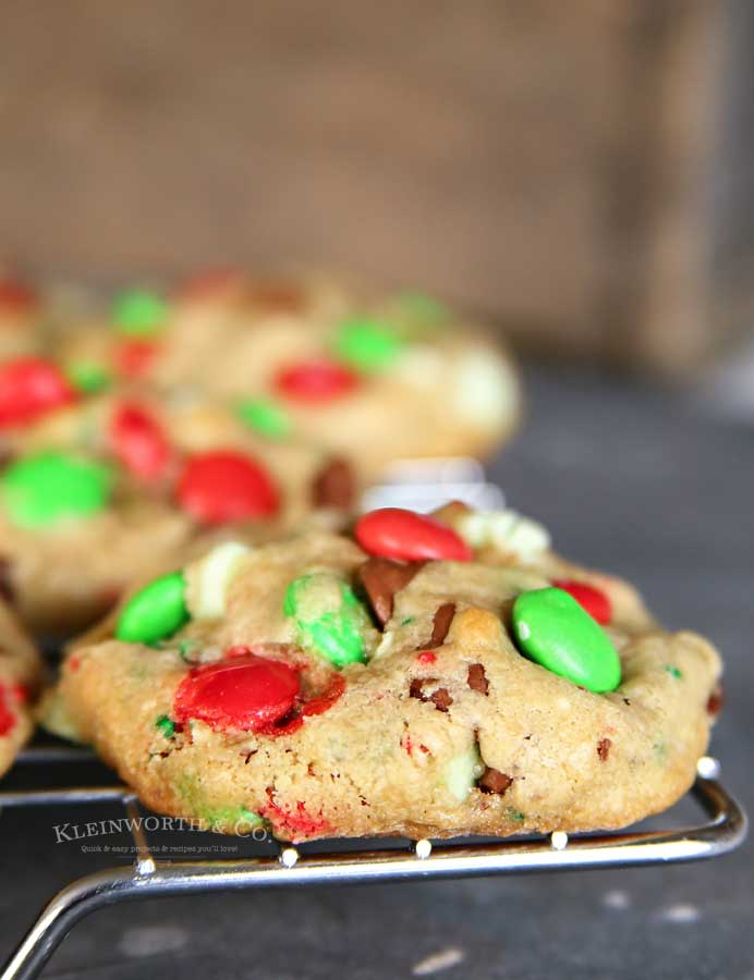 Soft & Chewy Christmas M&M Sprinkle Cookies