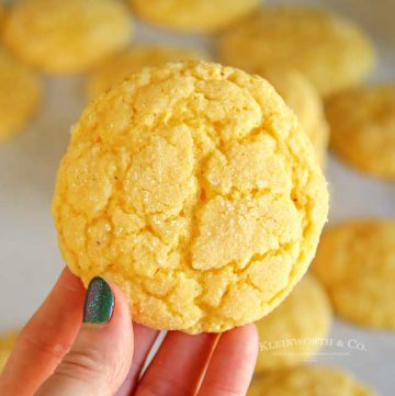 Soft & Chewy Eggnog Cookies