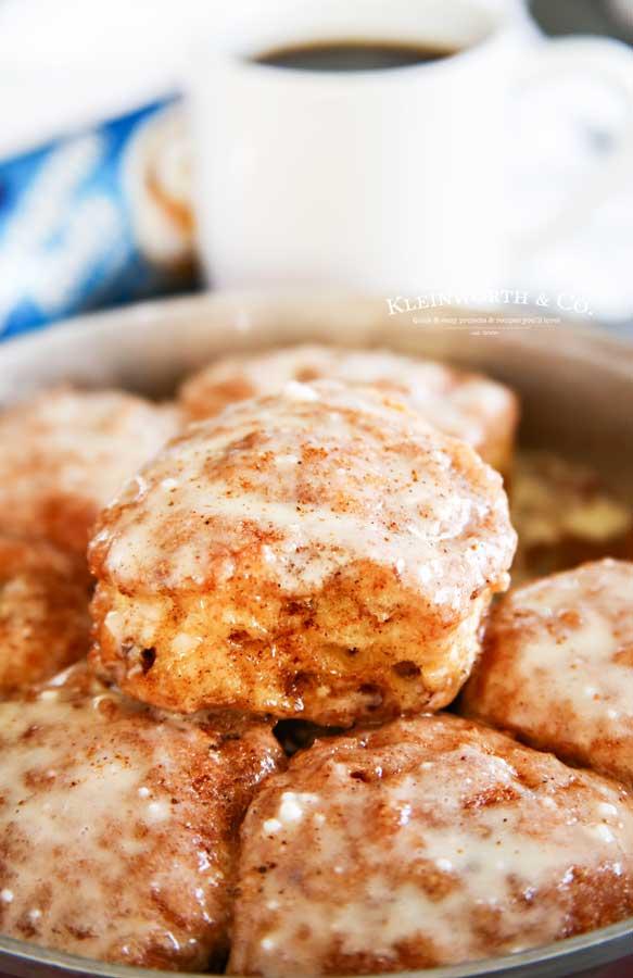 Eggnog Cinnamon Rolls Breakfast