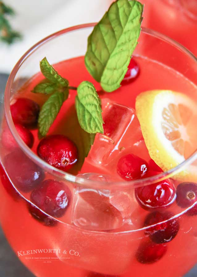 Holiday Party Punch with Rum