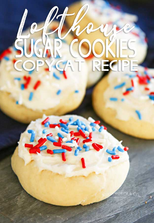 4th of July - Lofthouse Sugar Cookies - Copycat Recipe