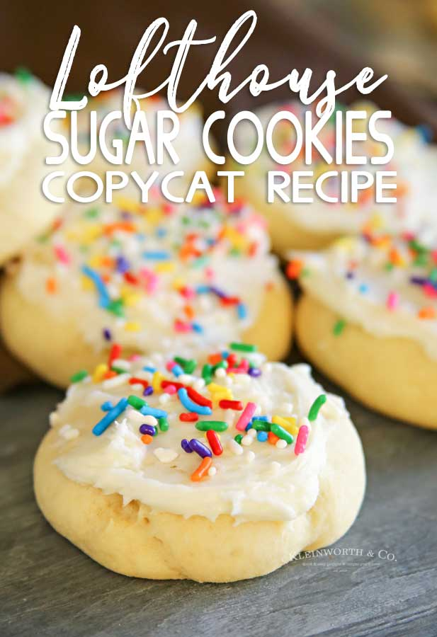 Birthday Lofthouse Sugar Cookies - Copycat Recipe
