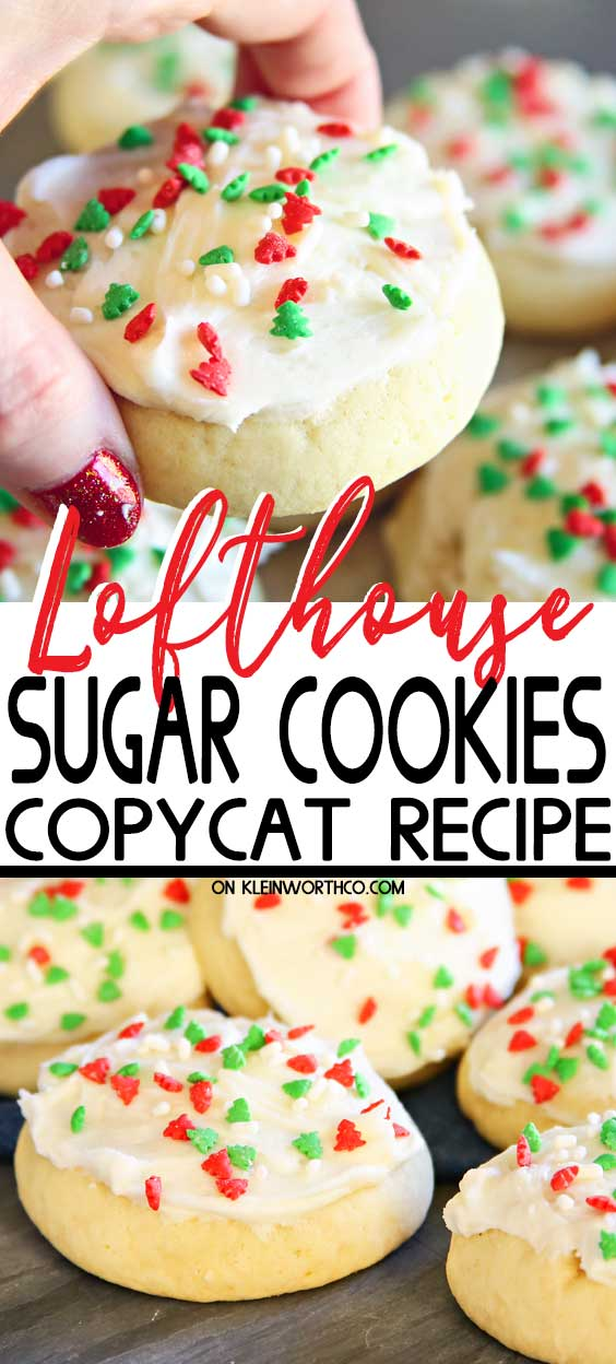 Christmas Lofthouse Sugar Cookies - Copycat Recipe
