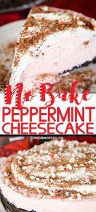 No-Bake Peppermint Cheesecake