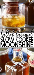 Slow Cooker Salted Caramel Moonshine