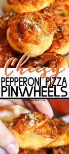 Cheesy Pepperoni Pizza Pinwheels