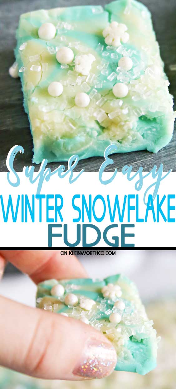 Easy Snowflake Fudge