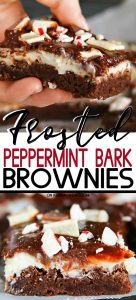 Frosted Peppermint Bark Brownies