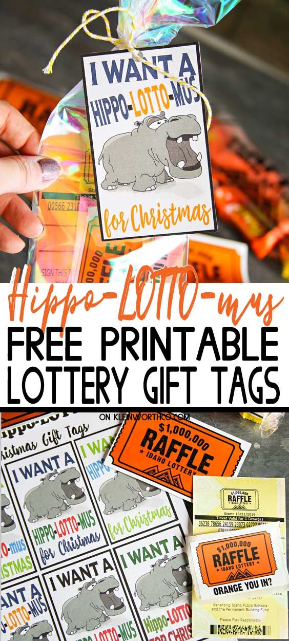 Hippo-LOTTO-mus Free Printable Lottery Gift Tags