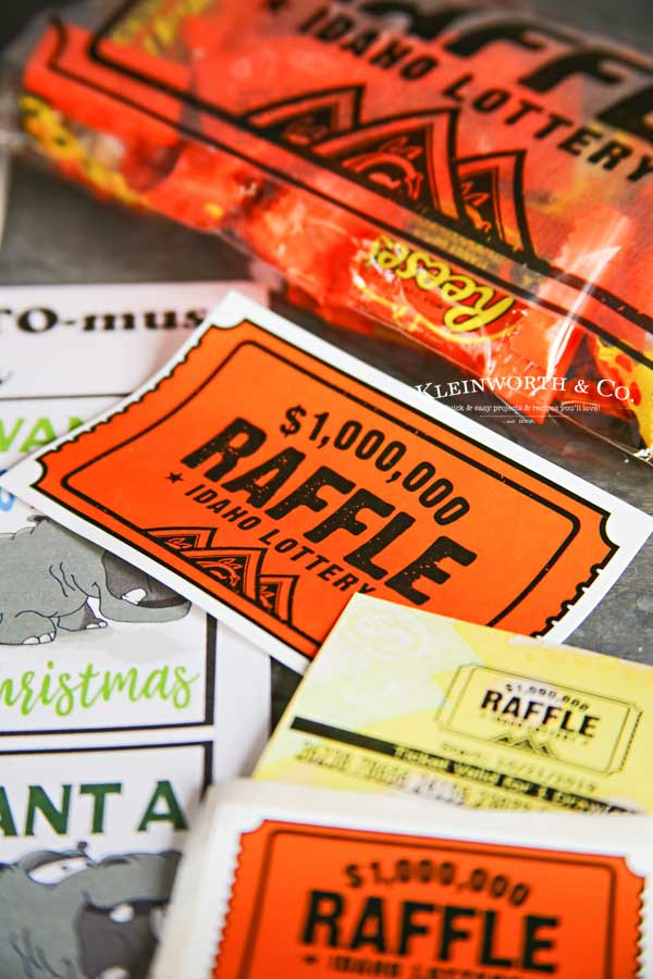 Gift Tags - Free Printable- Hippo-LOTTO-mus Lottery Gift Tags