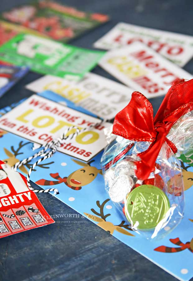 A Lotto fun this Christmas - Lottery Gift Tags- Free Printable