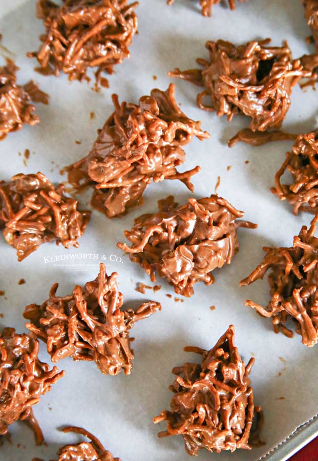 dessert - No-Bake Chocolate Haystacks
