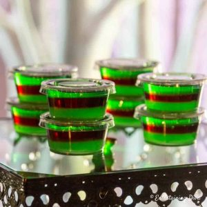 Purple Hooter Layered Jello Shots