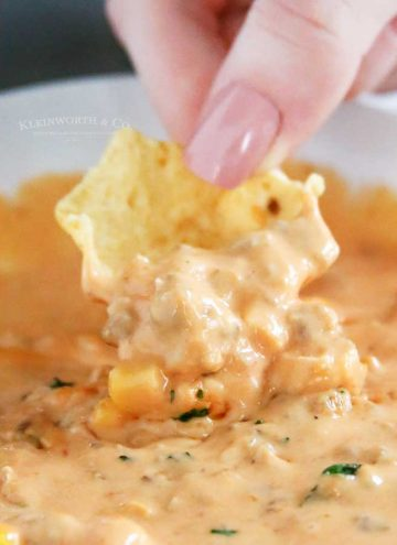 rotel cheese dip - party snack